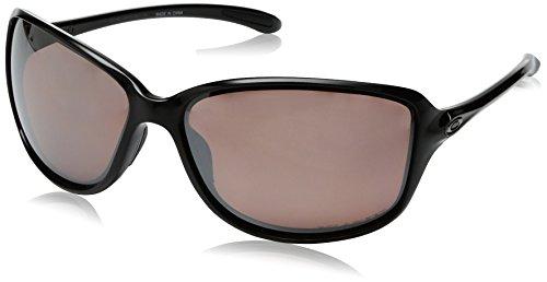 Oakley Women's Cohort Polarized Iridium Rectangular Sunglasses, Polished Black, 61 - Sunglasses Women's Oakley Lifestyle