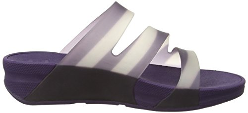 Violet Superjelly Stripe Sandales Bout FitFlop Purple Pomp Twist with Femme Ouvert 8dnxxqta1