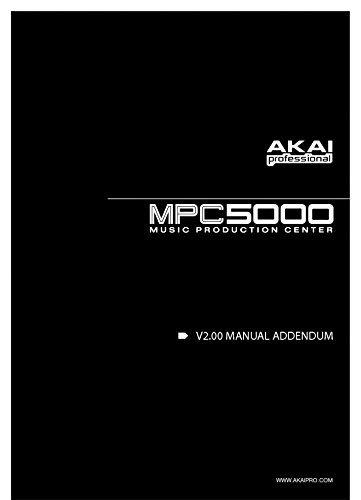Akai MPC5000 Owners Instruction Manual Reprint [Plastic Comb] [Jan 01, 1900]