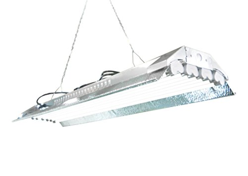 T5 HO Grow Light - 4 FT 8 Lamps - DL848S Fluorescent Hydroponic Indoor Fixture Bloom Veg Daisy Chain with Bulbs