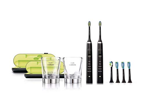 Philips Sonicare DiamondClean Rechargeable Electric Toothbrush 2-handle Pack - Black - Sealed Manufacturer Frustration Free Packaging