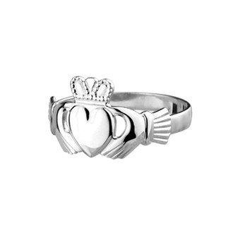 Para mujer de plata de ley anillo Claddagh