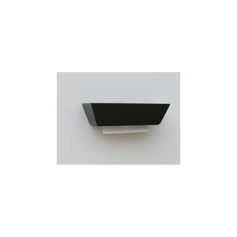 Top Load Wall Mount Individual Sheet Paper Towel Dispenser Black Contemporary Healthy Shelf