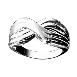 1001 Bijoux - Bague argent croisée et anneaux striés