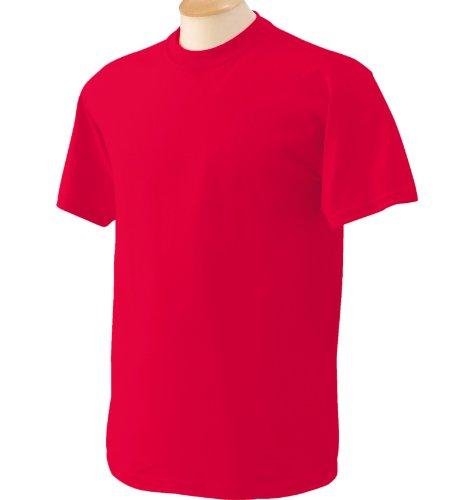 a maniche Modello Fat Cotton GildanBasic Rosso corte Heavy shirt T 100cotone Uomo 1TKcFJl
