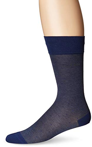 BOSS HUGO BOSS Men's Peter Dot Pattern Dress Sock, navy, 10-13 (Boss 3 Pack Men Hugo Socks)