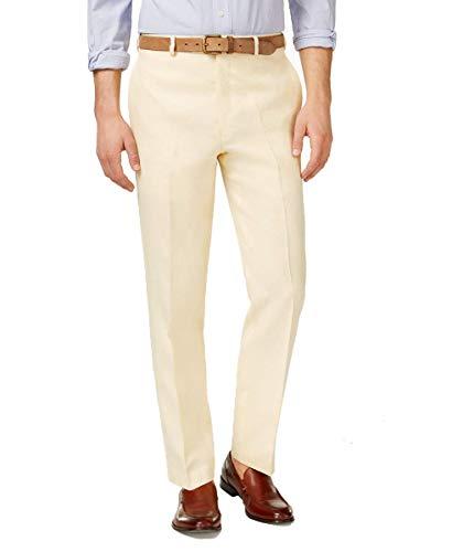Lauren Ralph Lauren Men's Solid Linen Classic-Fit Dress Pants (Yellow, 40W x 29L) ()