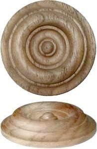 geschnitztes Holz W/ände 3,8 cm Ornamente Uniqantiq W2-5781 Rosetten-Applikation aus Walnussholz antike und Moderne M/öbelt/üren Onlay Dekoration