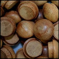wood buttons plugs - 8