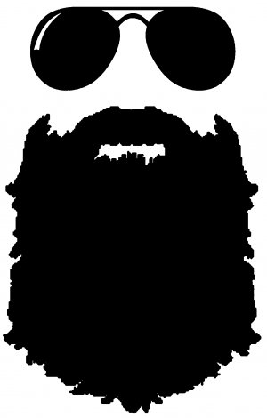 DD061 Man Beard Decal Sticker | 6-Inches By 3.8-Inches | Premium Quality Black Vinyl