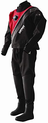 Dixie Diver Sopras Sub Trilaminate Drysuit Size Small with Soft Boots Size 7 Technical Dry Suit DUI Cold Water Scuba ()