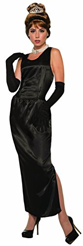 Forum Novelties 79561 Forum Women's Breakfast At Tiffany's Gown and Gloves Adult Costume, black, Standard, ()