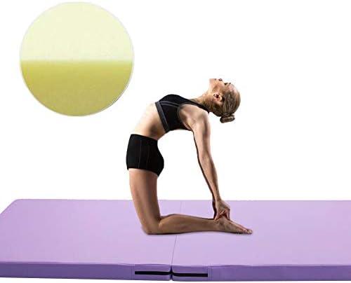 スポーツマット ストレッチマット 柔らかい ダンス ピラティス 家庭 折り畳み可能 無臭、 2つの厚さ、 11色 GUORRUI (Color : Purple, Size : 2-Panel-70x140x5cm)
