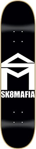 Sk8mafia House Deck 8.0 Black White Skateboard Decks