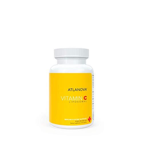 ATLANOVA True Liposomal Vitamin C 1000mg Capsules Vegan Best Natural Non GMO Made in USA Antioxidant Maximum Absorption Immune System Support & Collagen Booster Liposome Lab Formula Supplement