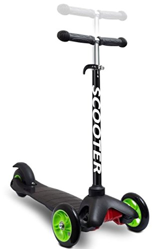 OxGord-Scooter-for-Kids-Deluxe-Aluminum-3-Wheel-Glider-with-Kick-n-Go-Lean-2-Turn-Step-4-Break-Black