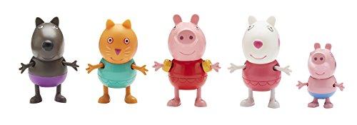 Peppa pig peppa et ses amis la plage 5 figurines - Peppa cochon a la plage ...