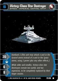 STAR WARS TCG A NEW HOPE FOIL VICTORY-CLASS STAR DESTROYER ()