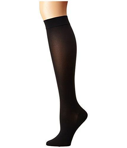 Wolford Women's Satin Opaque Nature Knee Highs Black Medium -