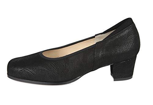 Piel 000025 Plantilla Negra Confort Extraible Cari Falcó Salón Zapato EgqSII