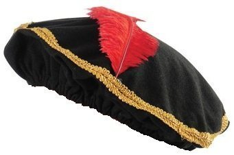 [Red Feather Renaissance Hat with Gold Trim (4-Pack)] (Hats 4 U)
