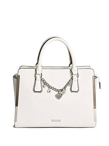 GUESS Factory Women's Lenora Saffiano Satchel