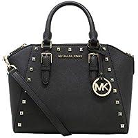 Michael Kors Studded Medium Ciara Saffiano Leather Womens Messenger Bag