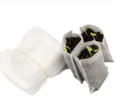 Kesote 200 Bolsas para Vivero Bolsas Biodegradables para Plantas Cultivadas Bolsas de Semillas de Plántulas de Suministros de Jardinería, 9 X 12 CM & ...