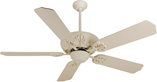 Antique White Ceiling Fan - Craftmade K10102, Cordova, 52