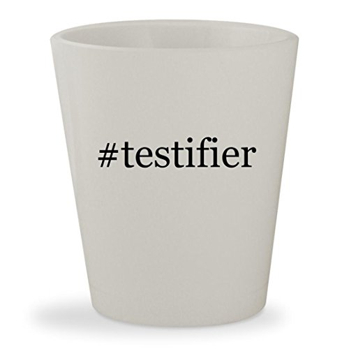 #testifier - White Hashtag Ceramic 1.5oz Shot - Alsina Glasses August