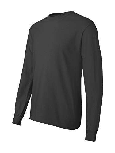Hanes Long Sleeve Tee - Hanes Men's ComfortSoft Long Sleeve Crewneck T-Shirt, Smoke Gray, Medium
