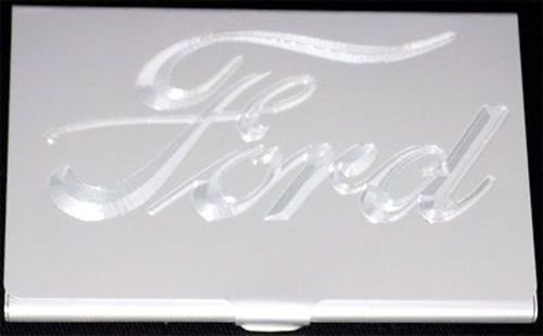 Ford Car Company Logo Engraved Business Id Credit Card Case Holder Gift Bus 0289