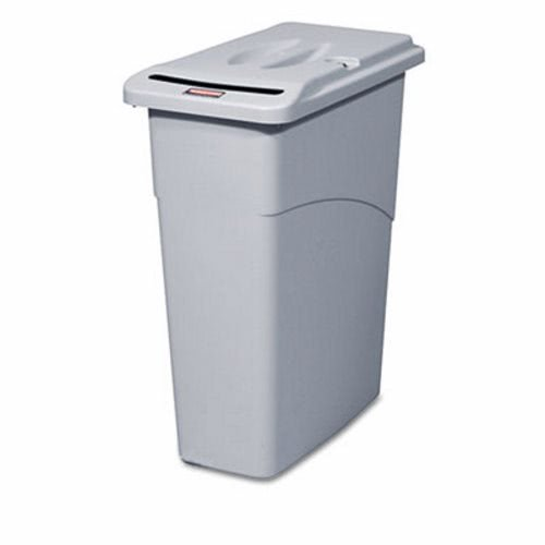 RCP9W15LGY - Rubbermaid Slim Jim Confidential Document Receptacle w/Lid