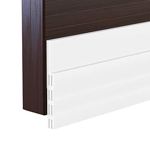 Range Door Insulation - Door Draft Stopper, 2 Pack Strong Adhesive Under Door Seal Strip Insulation Draft Stopper Noise Dustproof Windproof Door Weather Stripping, 2