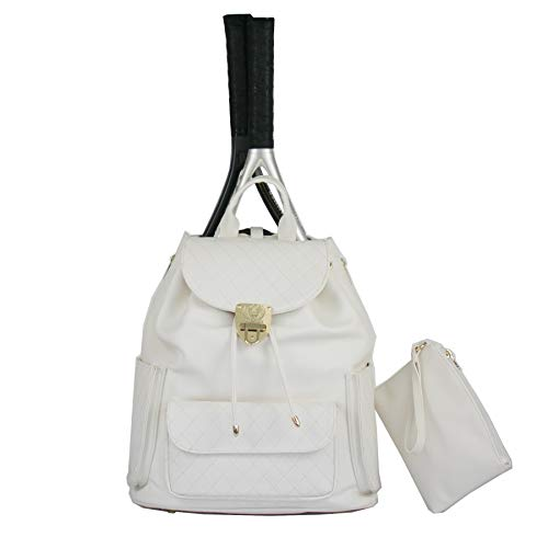 Court Couture Hampton Quilted Tennis Backpack Ivory