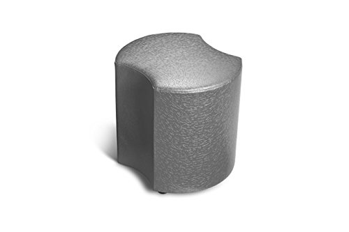 Logic Furniture MOONECA18 Moon 3 Eclipse Ottoman, 18'', Carbonite by Logic Furniture