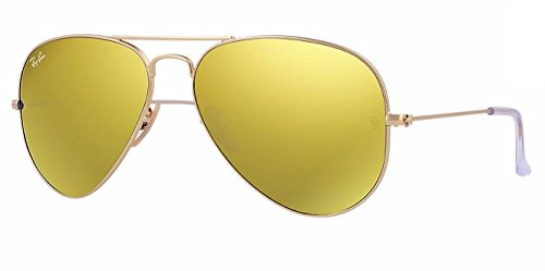 Ray Ban RB3025 112/93 58M Matte Gold/ Brown Gold Mirror - 93 58