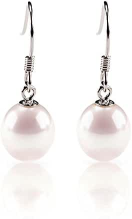 PAVOI Freshwater Cultured Pearl Earrings Dangle Studs - AAA Handpicked Quality
