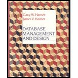 Database Management and Design, Hansen, Gary W. and Hansen, James V., 0132007592