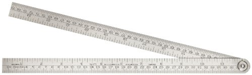 Starrett 471 Steel Folding Rule With Circumference Measurement, 24