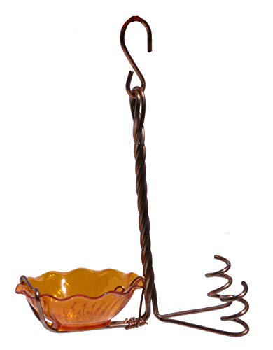Jelly Oriole Feeder - Songbird Essentials Copper Oriole Fruit and Jelly Feeder Single Cup SEHHORFJ