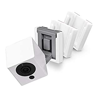 Screwless Wall Mount Kit for Wyze Cam V2, VHB Stick On - Easy to Install, No Tools Needed, No Mess, No Drilling, Strong Adheasive Mount (3 Pack), White by Brainwavz