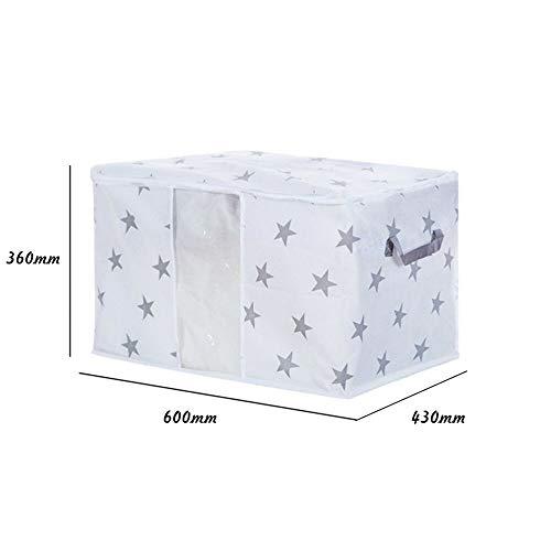 MOPOLIS Foldable Storage Bag Non-woven Clothes Quilt Storage Bag Organizer Box N4L6 | optional Type - large. star