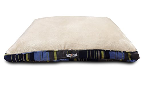 ASPCA Reversible Striped Gusseted Pillow Bed