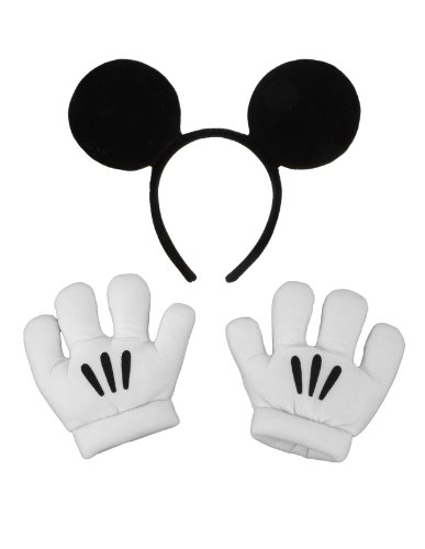 Mickey Mouse Ears With Gloves (elope Disney's Mickey Mouse Ears & Gloves Set)