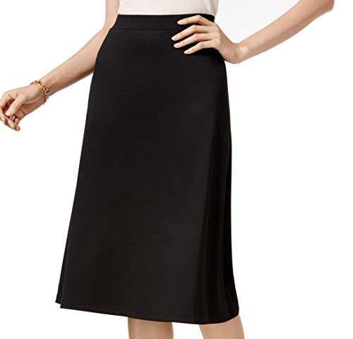 Kasper Womens A-Line Suit Seperates Midi Skirt Black XL