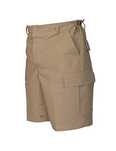 Tru-Spec Shorts, Tru Kh 100% CTTN R/S with Zip Fly, Khaki, Medium