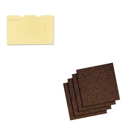 (KITQRT101UNV12113 - Value Kit - Quartet Cork Panel Bulletin Board (QRT101) and Universal File Folders (UNV12113))