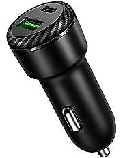 Carregador Veicular para iPhone e Android 36w Preto