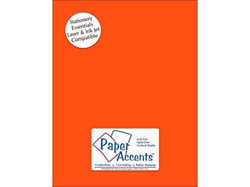 Accent diseño Paper Acentos adptx8511–25.109Lite Stock 21,6x 27,9cm Color Naranja Brillante cartulina